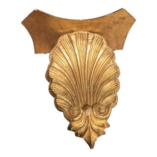 Antique Italian Gold Leafed Shell Wall Bracket. For Sale