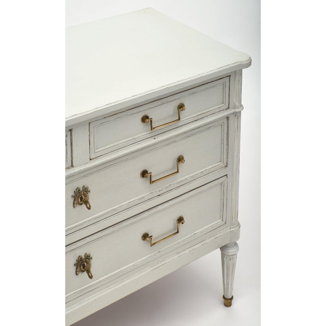 French Louis XVI Style French Painted Chest For Sale - Image 3 of 10