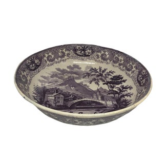 19th Century English Staffordshire Round Bowl For Sale