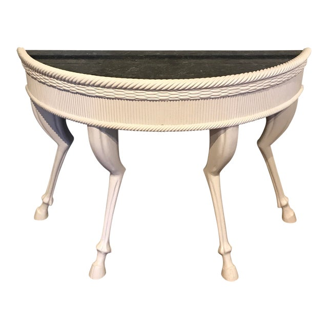 Dickinson Style Modern Lacquered Hoof Foot Console For Sale