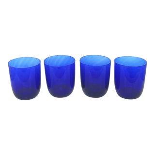 Vintage Cobalt Blue Glassware Set - Set of 4 For Sale