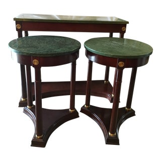 Bombay Stone Size Tables and Console Table - Set of 3