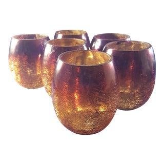 Ombre Mercury Glass Tumblers - Set of 6