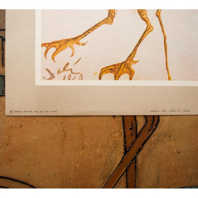 """1950s 1952 Dali, Original Period """"Birds"""" Lithograph From the Mrs. Albert D. Lasker Collection For Sale - Image 5 of 10"""