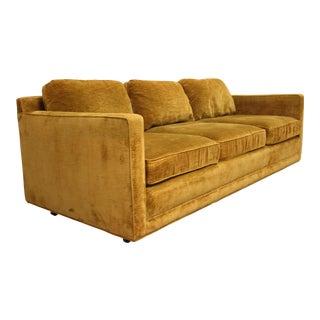 Mid Century Modern Selig Tuxedo Sofa For Sale