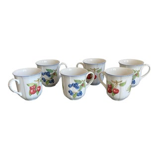 Villeroy & Boch Porcelain Cottage Mugs - Set of 6 For Sale