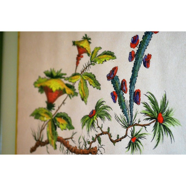 French Chinoiserie Hand Colored Floral Prints - Image 9 of 11
