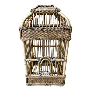 Large Bamboo Birdcage For Sale