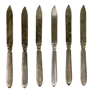 1847 Rogers Bros Warranted Silver Knives - Set of 6 For Sale