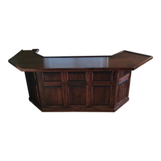 Classic Finished Pine Indoor Bar For Sale