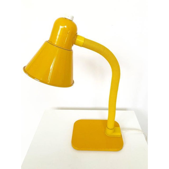 French Yellow Desk Lamp - Image 4 of 10