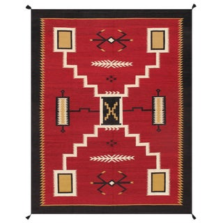 """Pasargad Home Navajo-Style Wool Area Rug- 9' 1"""" X 11' 8"""" For Sale"""