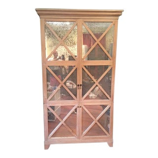 Shabby Chic Oly Studio Robert Armoire/Entertainment Cabinet For Sale