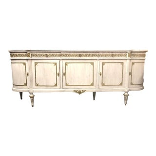 20th Century French Louis XVI Marble Top Enfilade For Sale