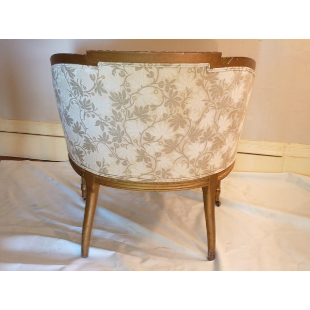 French Giltwood Bergere Chair - Image 10 of 11