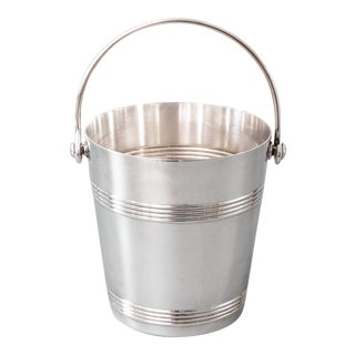 Vintage French Christofle Silver Plate Ice Bucket For Sale