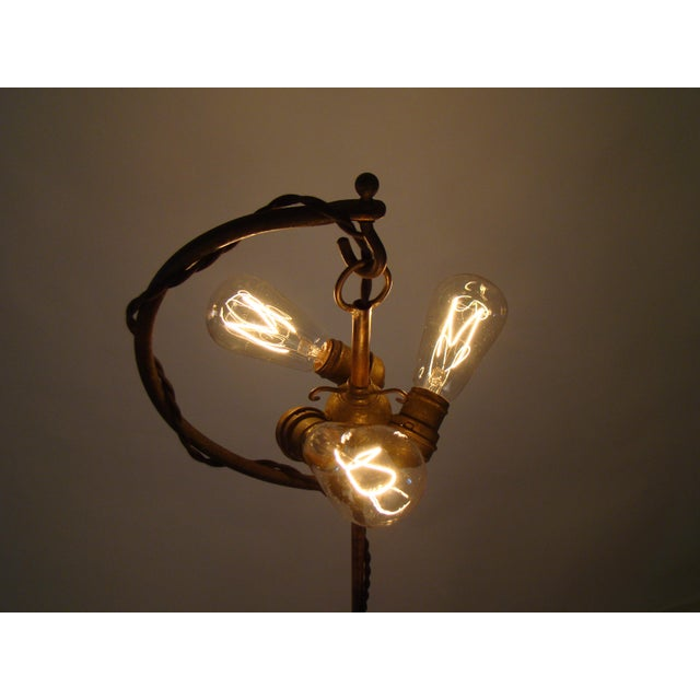 Antique Victorian Cast Iron Adjustable Floor Lamp - Image 6 of 11