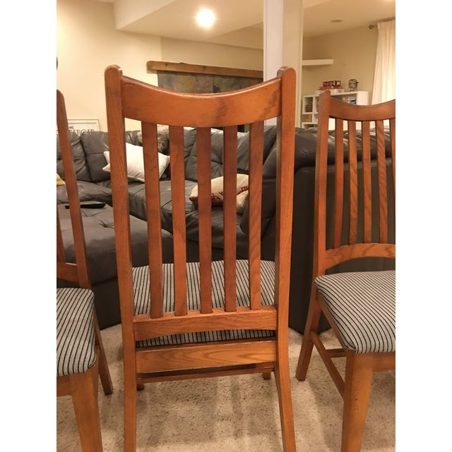 Mid-Century Modern High Back Dining Chairs - Set of 4 - Image 4 of 10