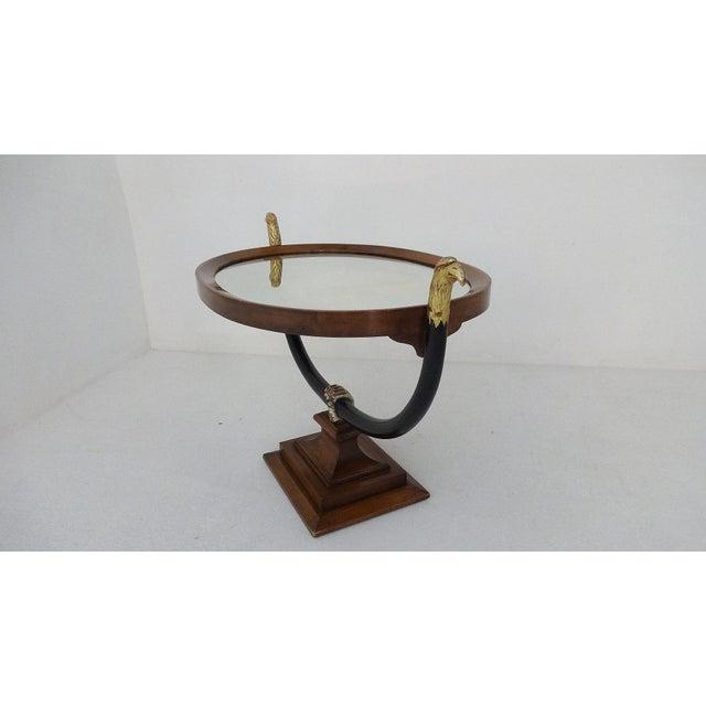 Unique Walnut Biedermeier Style Side Table For Sale - Image 5 of 10
