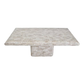 Tessellated Travertine Dining Table, 1970's For Sale
