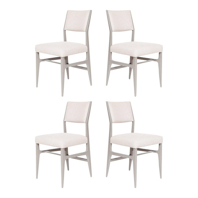 2010s Set of 4 Maze Lacquered Dining Chairs For Sale - Image 5 of 5