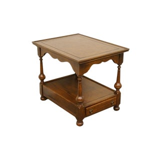 Ethan Allen Royal Charter Parquetry Top End Table For Sale