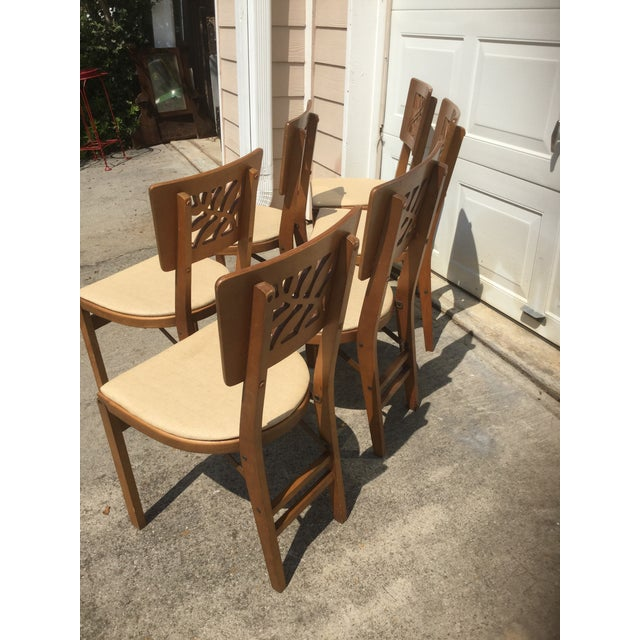 Vintage Carved Art Deco Chairs - Set of 6 For Sale In Atlanta - Image 6 of 11
