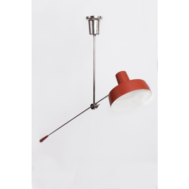 1950s Mid-Century Modern Swing Arm Ceiling Light For Sale In New York - Image 6 of 9