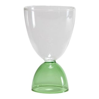 Mamo Cocktail Glass in Green For Sale