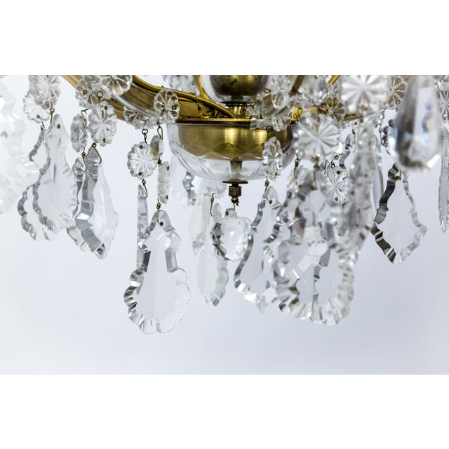 1920s Maria Theresa Style Crystal Seven-Light Chandelier For Sale In San Francisco - Image 6 of 13