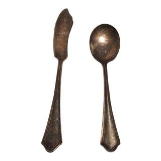 Early 20th Century Oneida Community Par Plate Vernon-Ashley Silverplate Servingware - Set of 2 For Sale