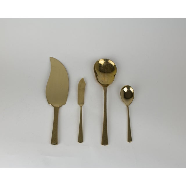 1950s Mid - Century Brass Dirilyte Empress Flatware- Service for 12 For Sale - Image 5 of 13