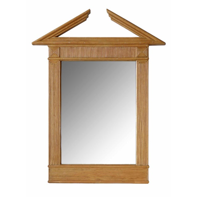 1960s Traditional Miami Regency Style Sycamore Framed Mirror For Sale - Image 4 of 4