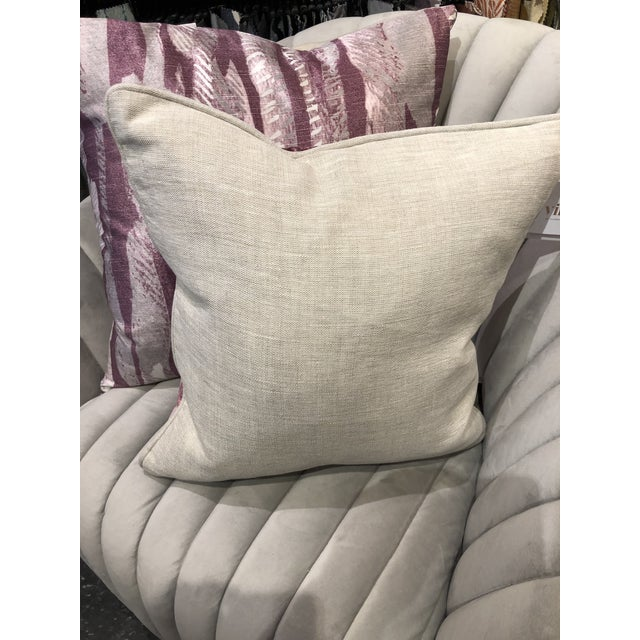 Hollywood Regency Classic Home Vera Wine Pillow For Sale In Chicago - Image 6 of 8