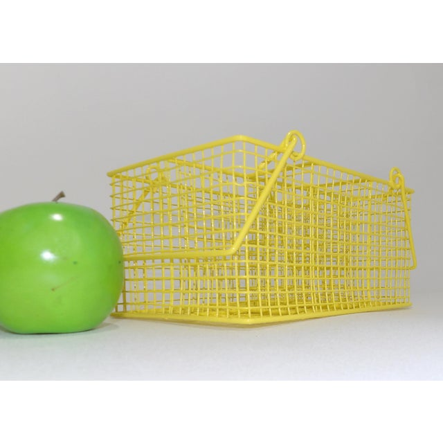 Electric Yellow Bathroom Toiletries Catchall Basket For Sale - Image 4 of 9