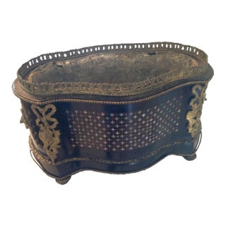 Napoleon III Planter With Gilt and Abalone For Sale