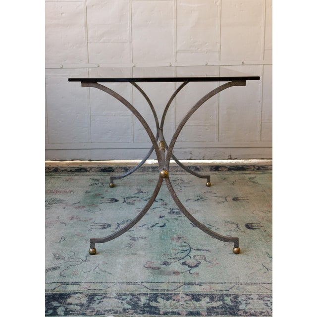 Brushed Steel and Brass End Table For Sale - Image 10 of 11
