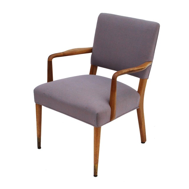 Mid-Century Sculpted Walnut Frame Armchair by Stow & Davis For Sale - Image 9 of 10