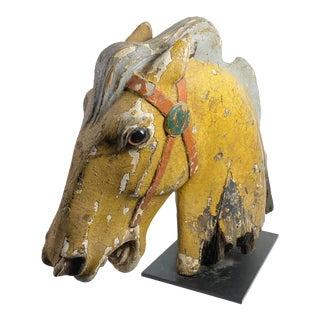 1940s Folk Art Carousel Horse Head For Sale