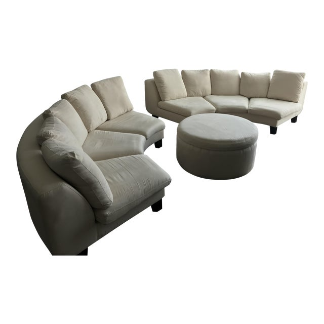 Dubuffet Sofas & Ottoman by Rodolfo Dordoni - Set of 3 For Sale