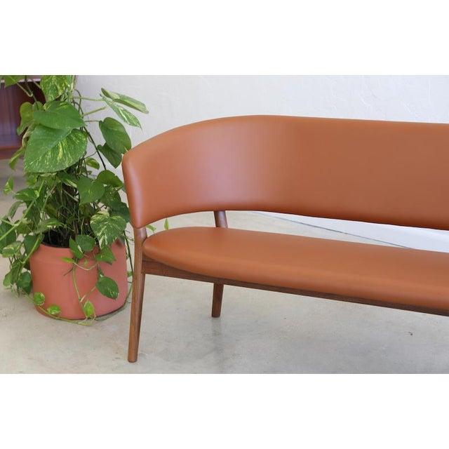 Animal Skin Mid-Century Danish Nanna Ditzel for Snedkergaarden Shell Sofa For Sale - Image 7 of 9