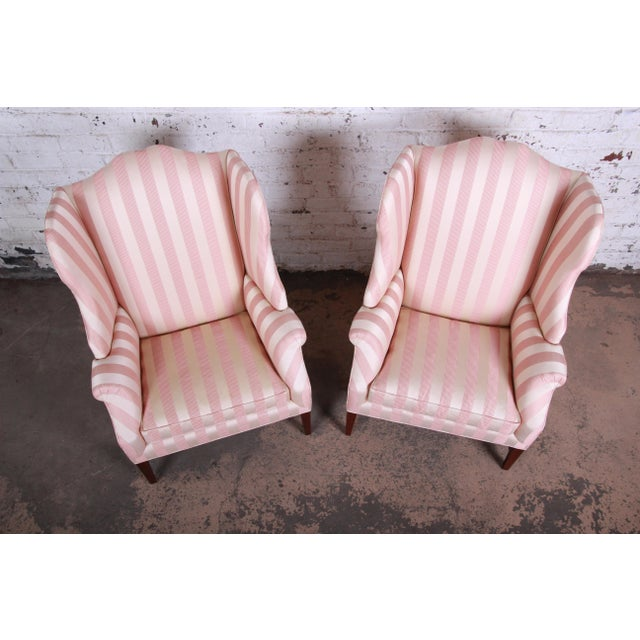 Baker Furniture Wingback Lounge Chairs, Pair For Sale In South Bend - Image 6 of 13