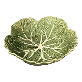 1970s Vintage Bordallo Pinheiro Majolica Cabbage Bowl For Sale