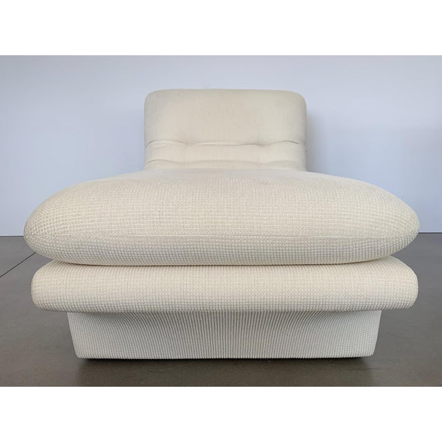 Fabric Modernist Fully Upholstered Chaise Lounge by Preview For Sale - Image 7 of 13