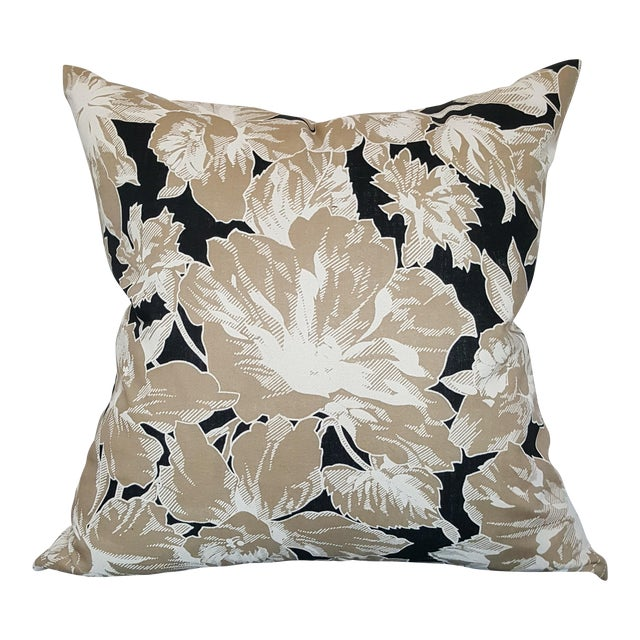 Vintage Floral Throw Pillows - A Pair - Image 2 of 6