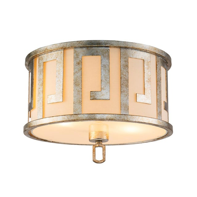 Flora 2 Light Pendant - Semi Flush, Medium, Distressed Silver For Sale In Baton Rouge - Image 6 of 6