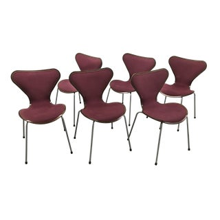Mid-20th Century Series 7-Style Chairs - Set of 6 For Sale