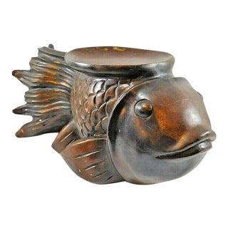 VIntage Koi Fish Goldfish Plant Stand For Sale