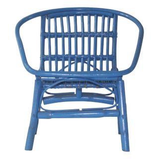 Laguna Rattan Arm Chair in Turquoise