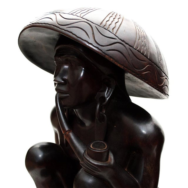 Large Early 20th C. African Narra Wood Sculptures - a Pair For Sale - Image 11 of 13